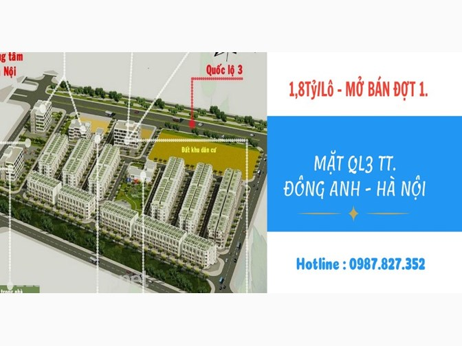Mở bán đợt 1 - Dự án đất nền Happy Land 1/5 Trị trấn đông anh Hà Nội