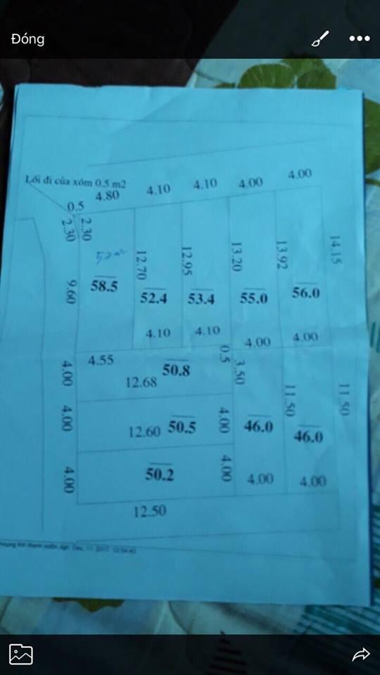 Gia đình tôi cần tiền bán gấp miếng đất thổ cư 55m2 đất xã Nam Hồng, Đông Anh, Hà Nội 0944298817