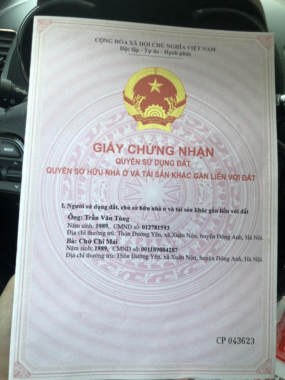 Bán thửa đất 63m khu đất đấu giá Hà Phong Liên Hà Đông Anh
