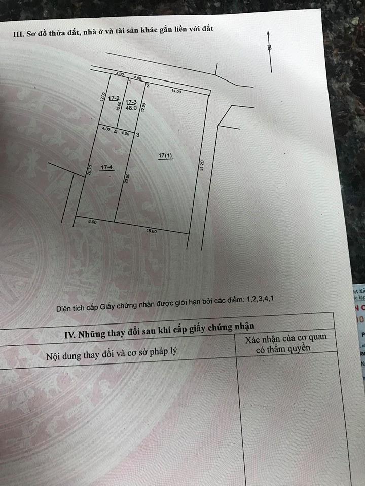 Gia đình cần bán 48m2 đất thôn Đoài nằm ở vỏ làng đường rộng thoáng mát,giá hợp lý!